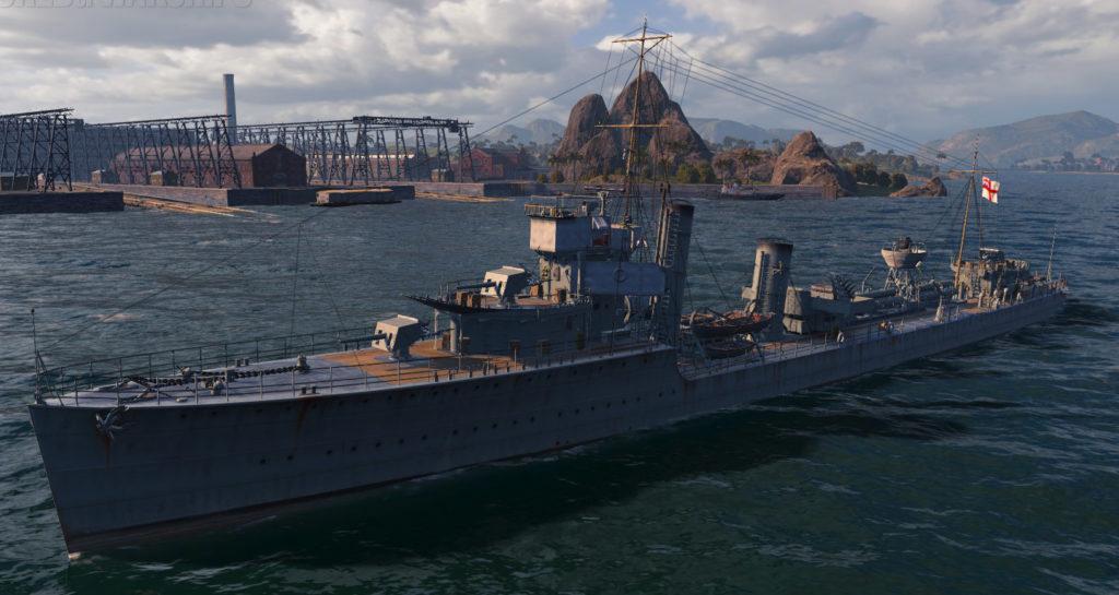W class destroyer general appearance - HMS Wakeful
