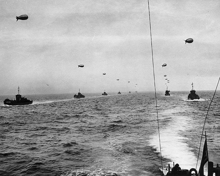 The allied Armada on June 6, 1944