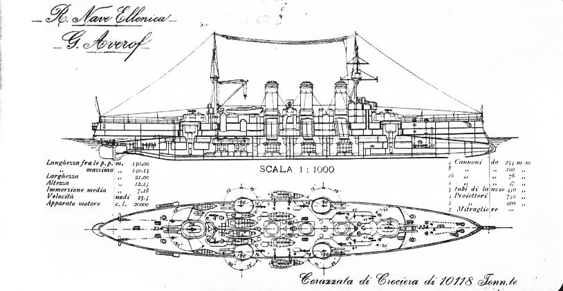 Blueprint of the Averof