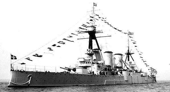 Giogios Averof at the 1937 Spithead review