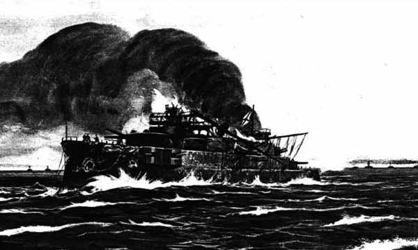 Suvorov battle damage