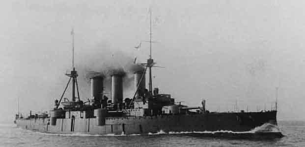 Giorgios Averof underway, circa 1914