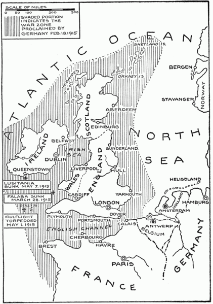U-Boat campaign 1915 area of operations
