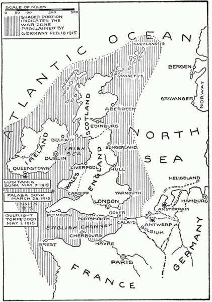 U-Boat campaign 1915 area of operations