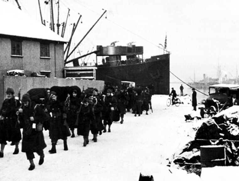 US Troops arrived in Reykjavik in January 1942
