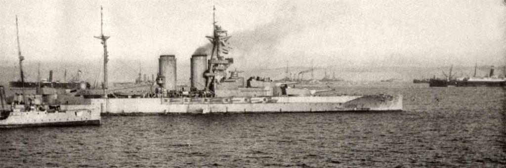 HMS Queen Elizabeth in the Dardanelles, March 1915