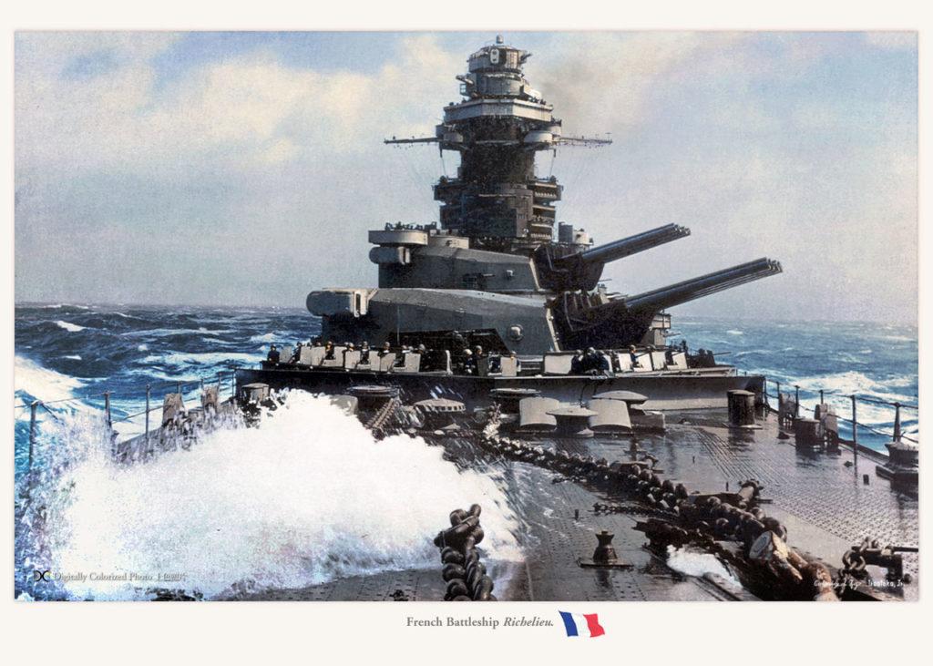 Richelieu's prow at sea 1944