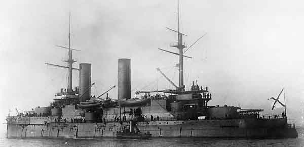 Slava, aft view in 1915