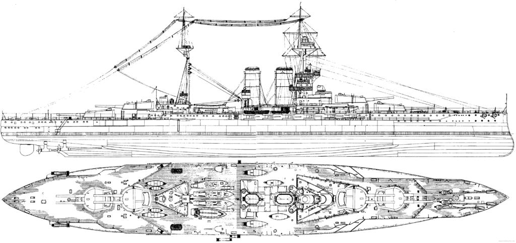 HD blueprint of HMS Barham as built in 1915