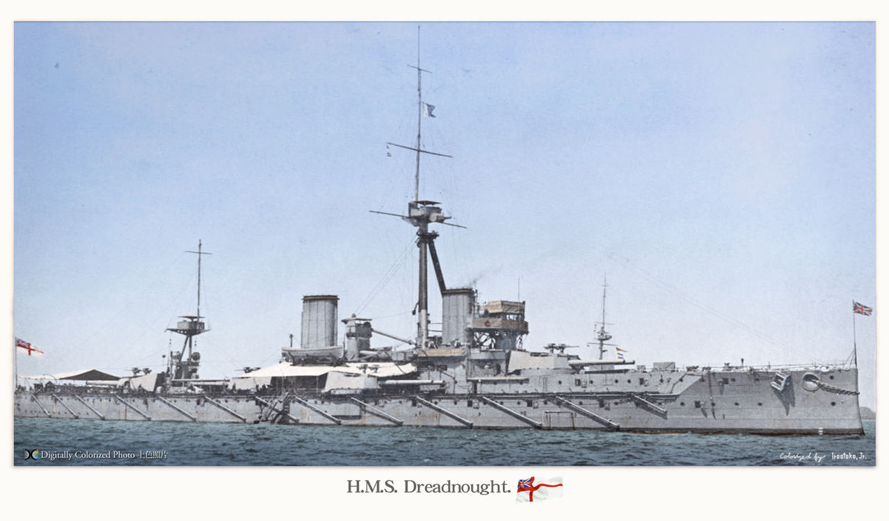 HMS Dreadnought colorized by iroo Toko JR