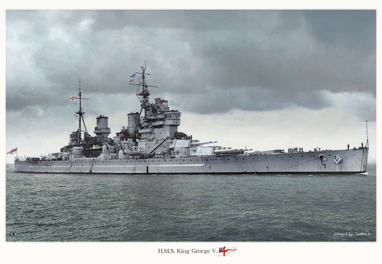 HMS King Georges V, colorized by Irootoko Jr