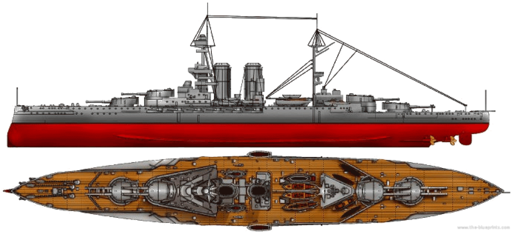 General appearance of the Queen Elizabeth class in 1915-16