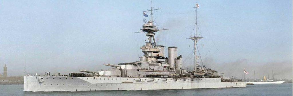"""Queen Elizabeth class """"super dreadnoughts"""" Battleships (1913)"""