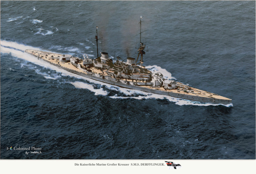 SMS Derrflinger colorized by Irootoko Jr
