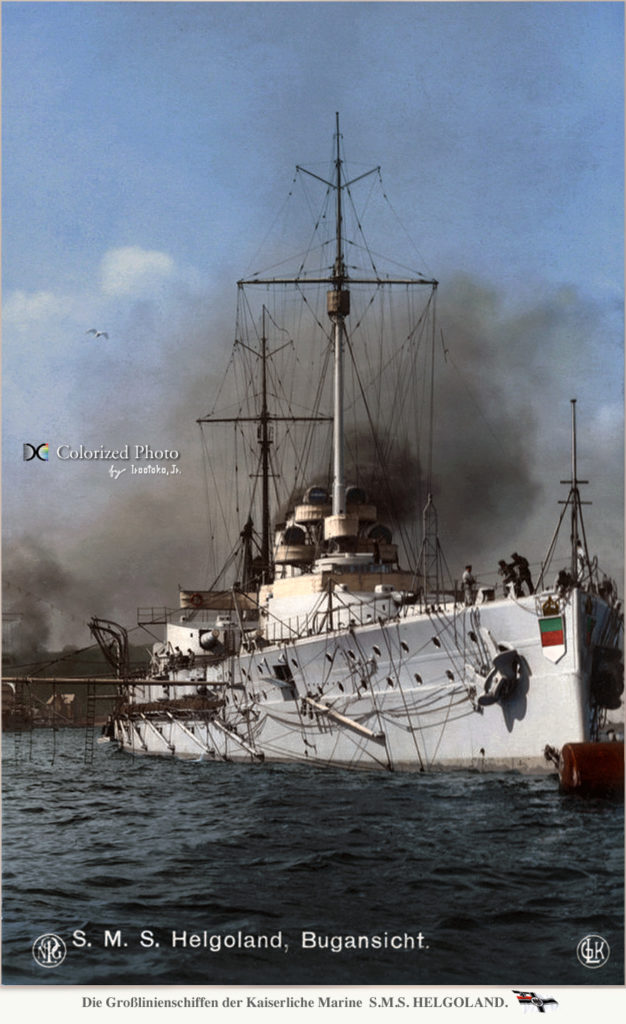 SMS Helgoland, prow, colorized by Irootoko Jr.