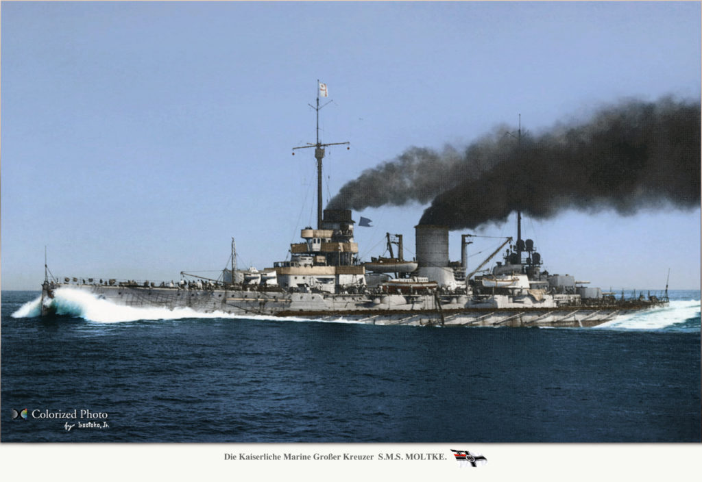 SMS Molkte, colorized by irootoko jr
