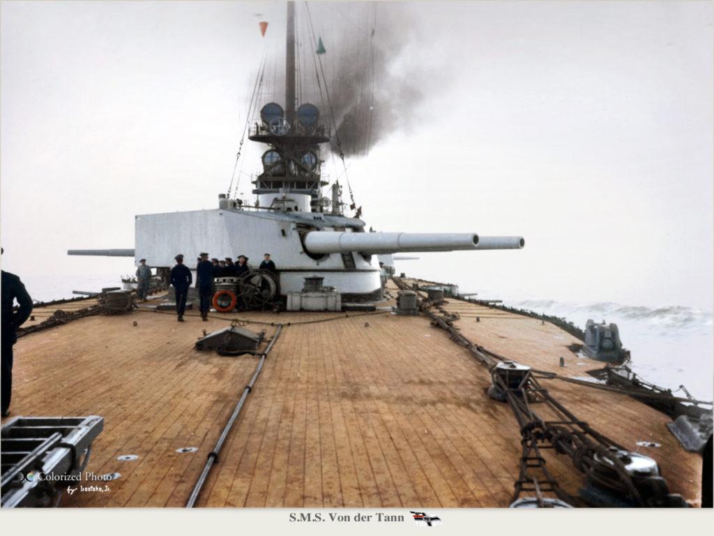 The Von der Tann aft 28 cm turret