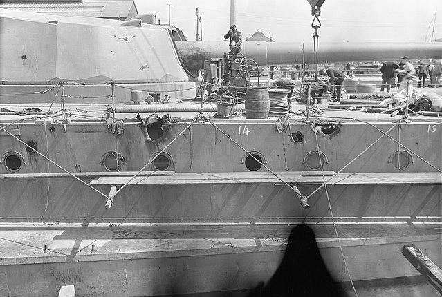 Battle damage after Jutland