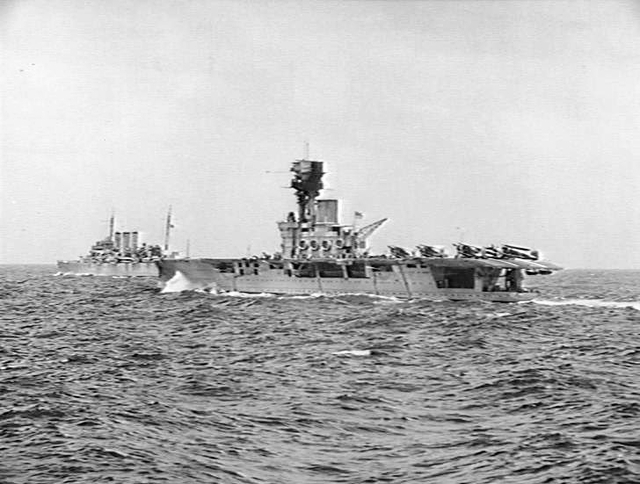 HMS Hermes and Dorsetshire, June 1940