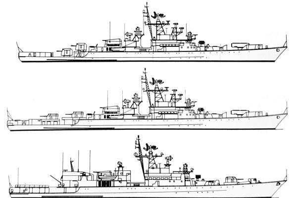 Krivak I, II and III comparison