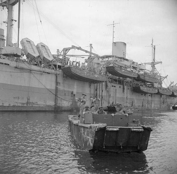 LCA leaving HMS Rocksand
