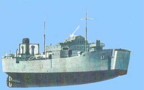 HMS Misoa drawing