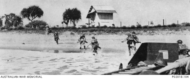 Landing of British troops at Tamatave on LCAs