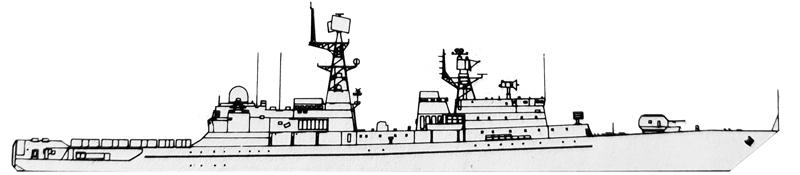 Neustrashimyy class as designed, 1990