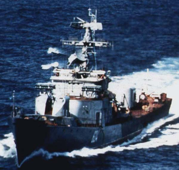 Petya I class ship underway