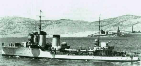 The Italian destroyer RN Crispi