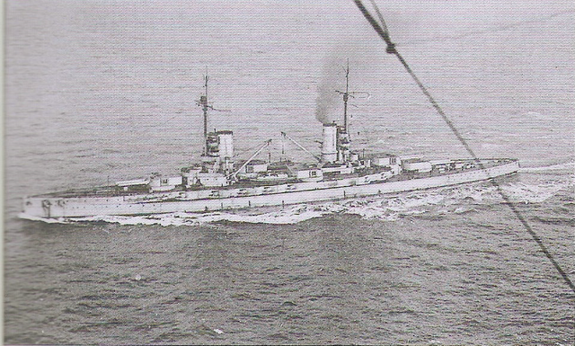 SMS Kaiser steaming to Scapa Flow