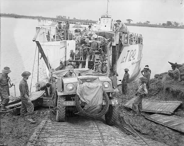 LCTs at Elephant Point, May 2, 1945