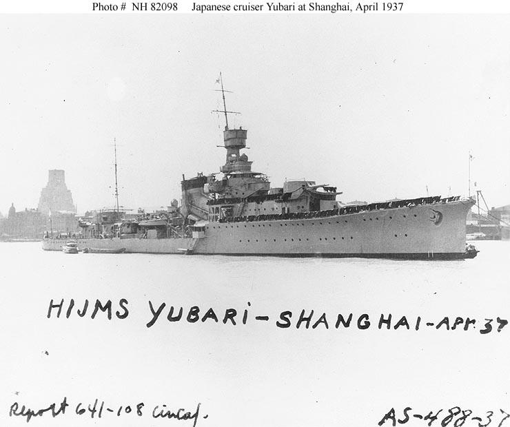 Yubari in Shanghai, 1937 - ONI
