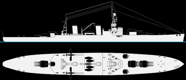 37,000 tonnes battlecruiser depiction