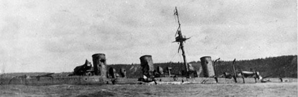 Novik scuttled at Korsakow bay