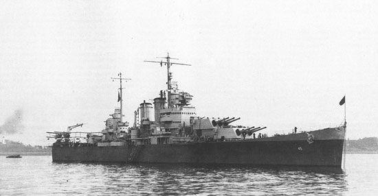 USS Wichita general appearance in 1945