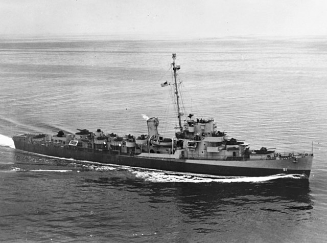 A Buckley class escort destroyer
