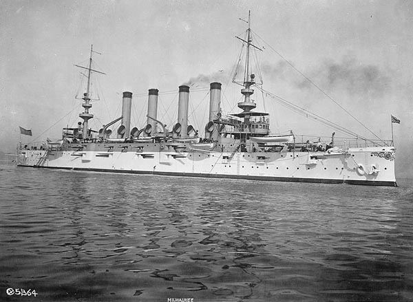 USS Milwaukee after completion