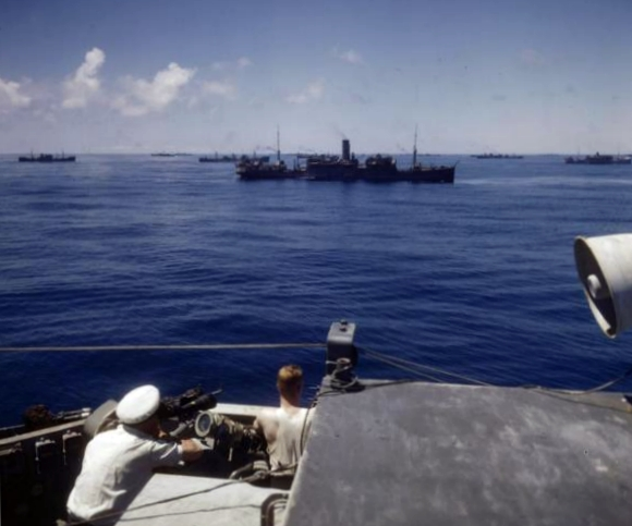 Convoy in the south atlantic