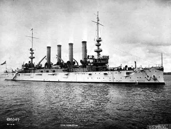 USS Charleston as completed in 1905