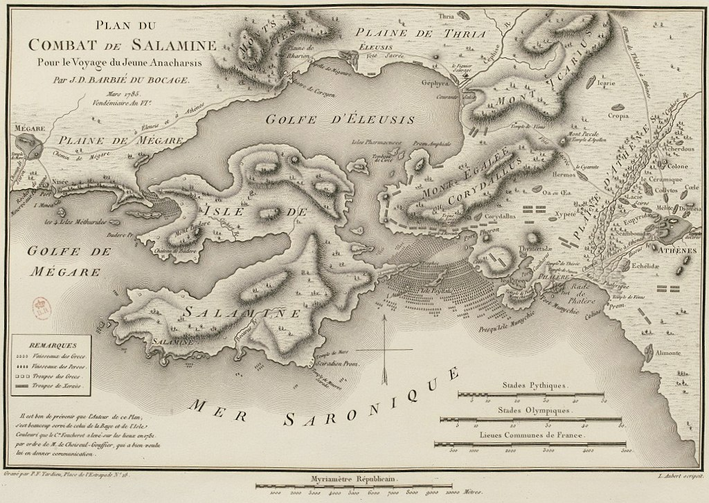 1798 map engraving of the battle