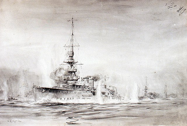Second Battle of Heligoland, HMS Calypso in action