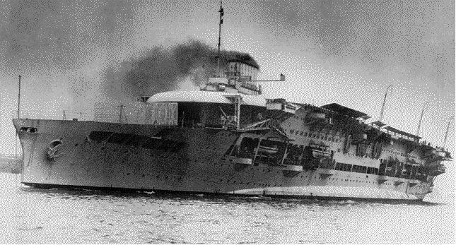 HMS Glorious conversion