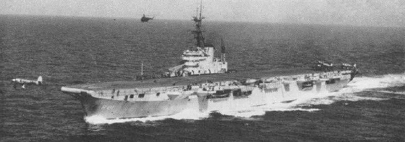 Karel Doorman Launching Sea Fury