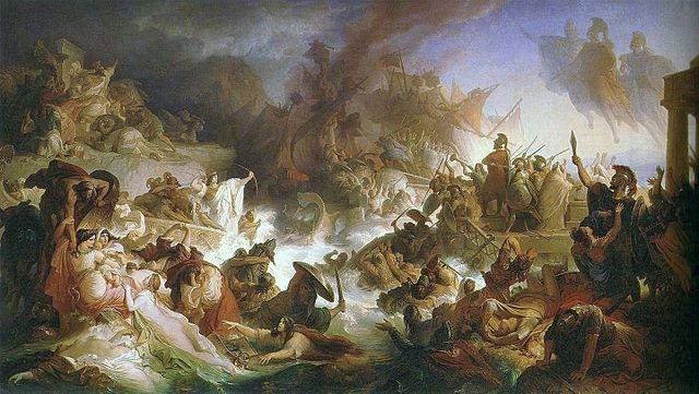A 1868 painting by Wilhelm von Kaulbach of Salamis
