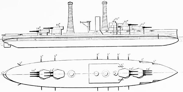 diagram of the Nevada armour scheme