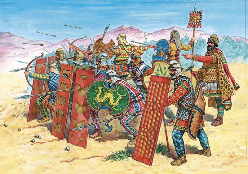 Typical appearance of Persian troops of the time