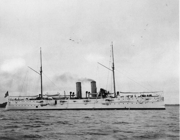 USS Cincinnati (C7) as built