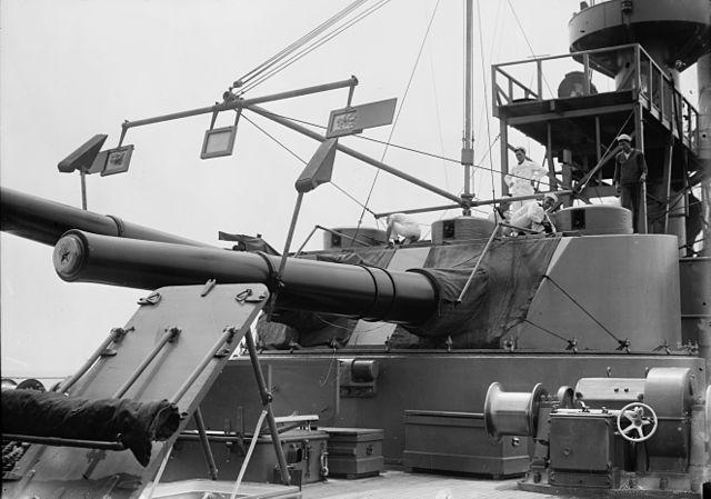 USS Seattle forward turret