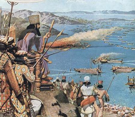 Xerxes-Persian-Naval-Forces-at-Salamis
